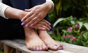 Vata an Aveda Salon & Spa: Shellac / Gel Mani with Optional Pedicure at Vata an Aveda Salon & Spa (Up to 62% Off). Three Options Available.