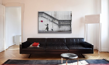 Banksy Street Art Prints on Gallery-Wrapped Canvas from $49.99–$79.99