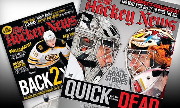 """""""The Hockey News"""": $22 for a One-Year Subscription to """"The Hockey News"""" ($45 Value)"""