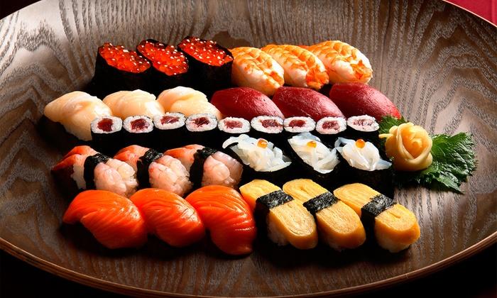 Restaurante KOBE - Restaurante KOBE: Japonés para dos con 40 piezas de sushi, entrantes y consumición por 22,90 € y con postre y botella de vino por 26,90 €