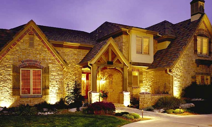 Permalites - New Lenox: $650 for Six Exterior Home Lights and One Transformer from Permalites ($1,500 Value)