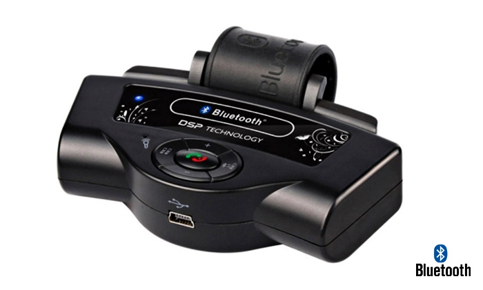 Auto365.co.il- קניון מוטורי - Merchandising (IL): דיבורית bluetooth לרכב המותקנת על גלגל ההגה ומשמשת לניווט ולהאזנה למוזיקה ללא רעשי רקע