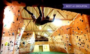 Bridges Rock Gym: One- or Three-Day Rock-Climbing Gym Packages at Bridges Rock Gym (Up to 56%Off)