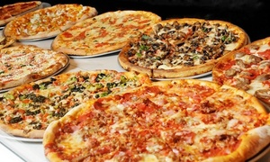 TJ's Pizzeria Cafe : Specialty Pizza, Oven-Baked Heroes, and Family-Style Pasta for Two or Four at TJ's Pizzeria Cafe (Up to 54% Off)