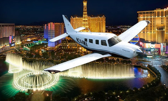 Story Airways - North Las Vegas: $79 for a 30-Minute Nighttime Flight over the Las Vegas Strip for One from Story Airways ($169 Value)