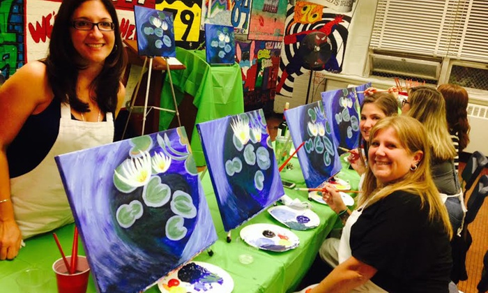 """Creative Scene - Multiple Locations: $30 for a 2-Hour """"Make Art After Dark"""" Workshop for 1 with 1 Drink Ticket at Creative Scene ($70 Value)"""