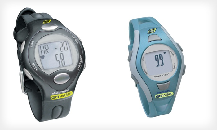 Skechers Go Walk Fitness Watches: Skechers Go Walk Classic Fitness Watch in Black or Pink or Fitwatch Fitness Watch in Black or Blue (Up to Half Off)