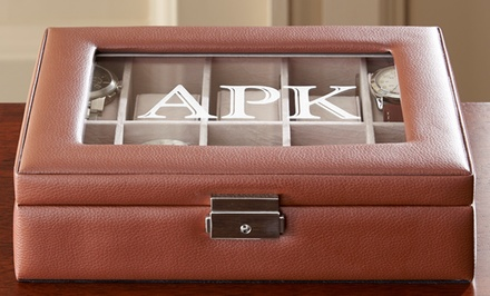 Personalized Brown or Black Leather Watch Box from Personal Creations (Up to 50% Off)
