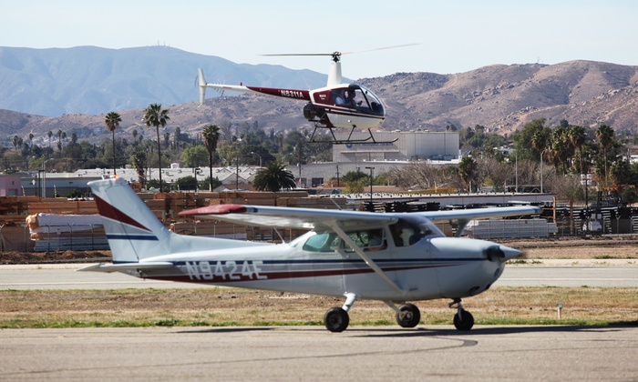 California Aviation Services - Riverside Airport: $63 for Flight Lesson with 30-Minute Discovery Flight at California Aviation Services (Up to $150 Value)