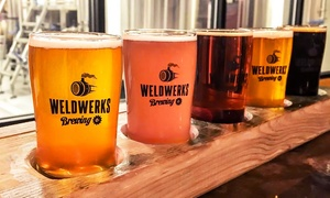 WeldWerks Brewing Company: Brewery Experience with Flights and Take-Home Glasses for 2 or 4 at WeldWerks Brewing Company (Up to 43% Off)