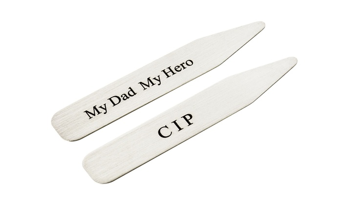 AJ's Collection: $29.99 for One Set of Personalized Collar Stays from AJ's Collection ($68 Value)