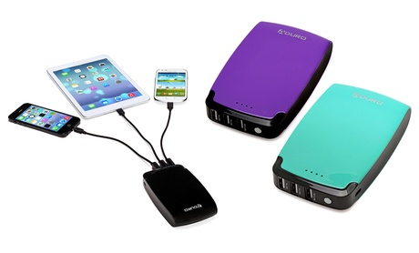 Aduro PowerUp 11,000Mah Portable Backup Battery Charger with 3 USB Ports