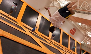 Airtime Trampoline & Game Park: $16 for One-Hour Trampoline Session for Two at Airtime Trampoline & Game Park (Up to 33% Off)
