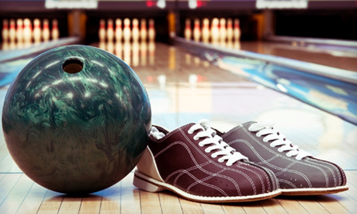 Pin Street Bowling Centers - Multiple Locations: Two Hours of Bowling for Four or Eight with Shoe Rentals and Soda at Pin Street Bowling Centers (Up to 74% Off)