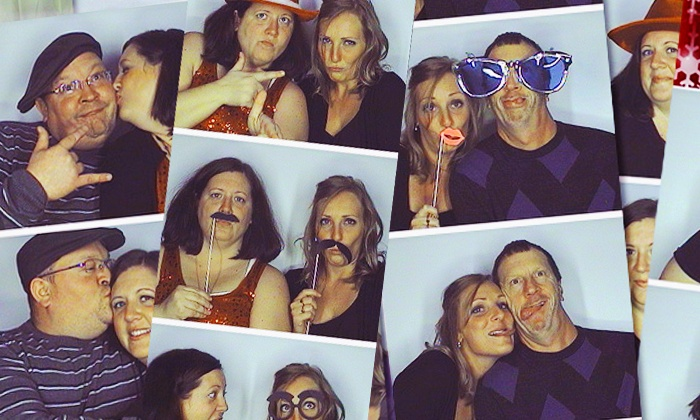 Moore Memories Photo Booth - Greenwood: Three- or Six-Hour Photo-Booth Rental from Moore Memories Photo Booth (Up to 67% Off)