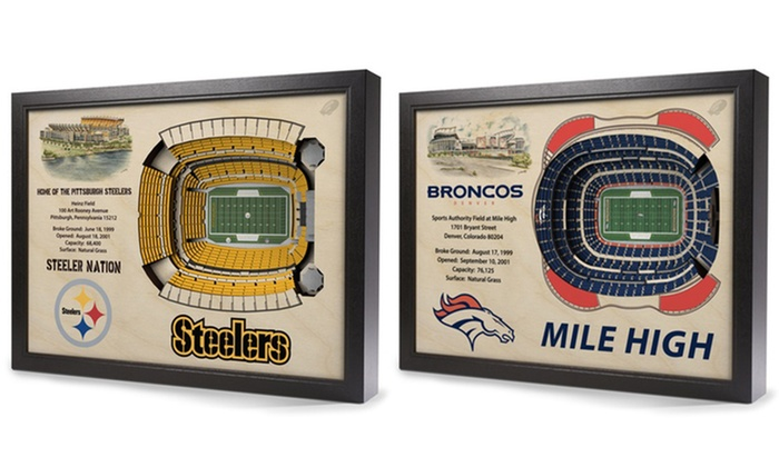 Up To 8% Off on NFL 25-Layer Stadium 3D Wall Art | Groupon Goods