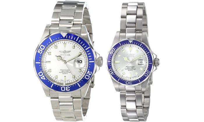 His And Hers Watch Sets >> Invicta Pro Diver His And Hers Timepiece Sets Groupon