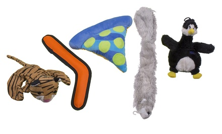 Petmate 5-Piece Dog Toy Bundle