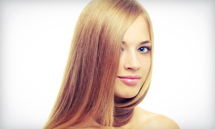 Hair International - Palo Alto: Haircut with Highlights or CHI Straightening Treatment at Hair International (Up to 65% Off)