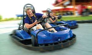 Malibu Grand Prix: Water-Park Pass, Go-Kart Pass, or Birthday Party at Malibu Grand Prix (Up to 53% Off). Seven Options Available.
