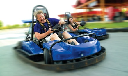 Water-Park Pass, Go-Kart Pass, or Birthday Party at Malibu Grand Prix (Up to 53% Off). Seven Options Available.