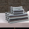 Affluence 6-Piece Stripe Jacquard Towel Set