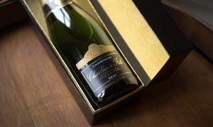 Champagne Charlier & Fils: Visite de cave guidée,dégustation et 1 bouteille de Champagne en coffret pour 2 personnes à 33 € au Champagne Charlier & Fils
