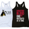 Ladies Camping-Themed Tank Tops