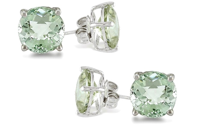One Or Two Pairs Of 2 00 Cttw Genuine Green Amethyst