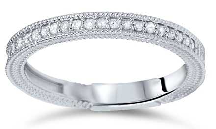 0.30 CTTW Diamond Ring in 14K White Gold by Bliss Diamond