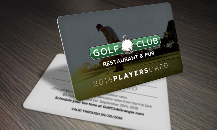 The Golf Club of Granger - Granger: One Golf Player's Card from The Golf Club of Granger