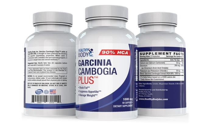 Healthy Body 90 Hca Garcinia Cambogia Plus Capsules 1 Or 3 Bottles