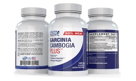 Healthy Body 90% HCA Garcinia Cambogia Plus Capsules (1 or 3 Bottles)