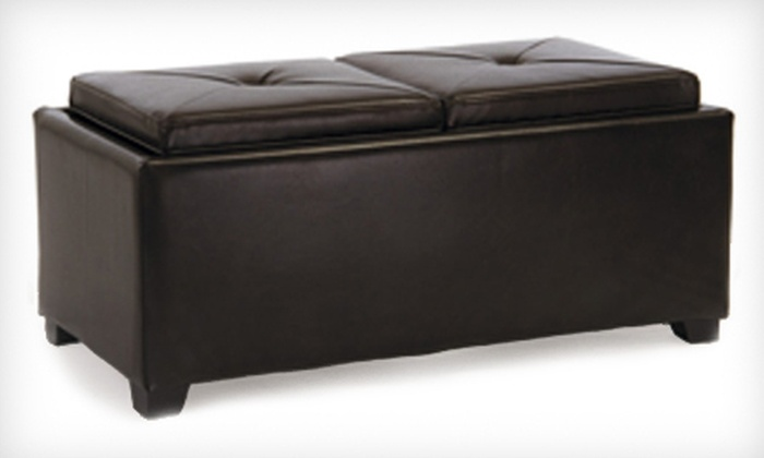 Devonshire Brown Leather Tray Ottoman: $99 for a Devonshire Brown Leather Tray Ottoman ($229.99 List Price). Free Shipping.