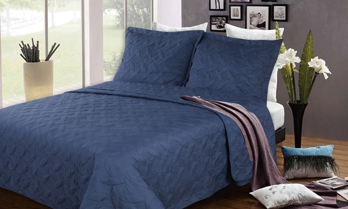 3-Piece Quilted Coverlet Set : 3-Piece Quilted Coverlet Set. Multiple Styles Available. Free Shipping and Returns.