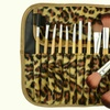 Makeup Brush Set with Leopard Carry Pouch (12-Piece)