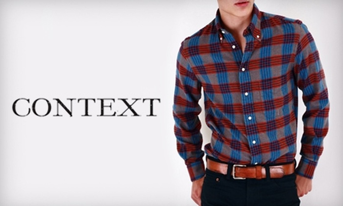 Context - Capitol: $50 for $100 Worth of Designer Men's Clothing at Context