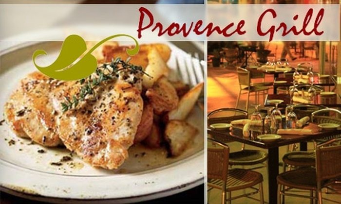 Provence Grill - City Center: $20 for $40 Worth of Classic French Bistro Fare and Drinks at Provence Grill in Miami Beach