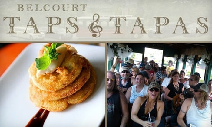 Belcourt Taps & Tapas - Hillsboro West End: $10 for Themed Trolley Pub Crawl, Tapas, and Goodie Bag from Belcourt Taps & Tapas ($20 Value)