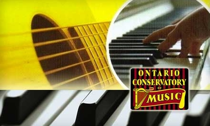 Ontario Conservatory of Music - Queenston: $18 for Two Music Lessons at Ontario Conservatory of Music ($36 Value)