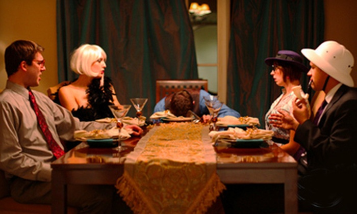 The Murder Mystery Company - Orange Park: Murder-Mystery Dinner for One or Two from The Murder Mystery Company at The Red Zone in Orange Park (Up to 53% Off)