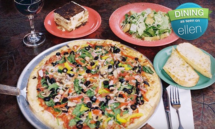 Palio's Pizza Cafe - Denton - Multiple Locations: Pizza Dinner for Two or $5 for $10 Worth of Italian Lunch Fare at Palio's Pizza Cafe