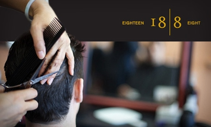 18|8 Men's Hair and Grooming Centre - Multiple Locations: $25 for Two Executive Haircuts at 18|8 Men's Hair and Grooming Centre ($74 Value)