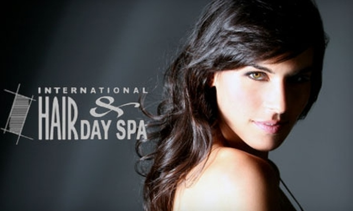 International Hair & Day Spa - Downtown Overland Park: $35 for $75 Worth of Hair Salon Services and Facial Waxing at International Hair & Day Spa