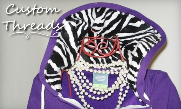 Custom Threads Embroidery and Personalized Gifts - Canyon: $20 for $40 Worth of Customized Clothing and More at Custom Threads Embroidery and Personalized Gifts