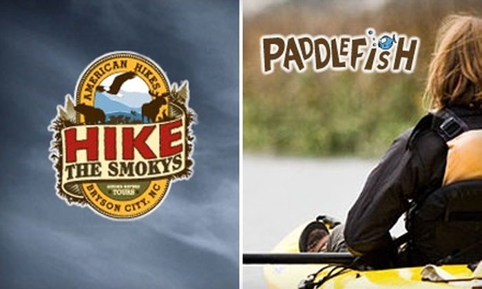 PaddleFish Kayaking - Bryson City: $18 for a Great Smokys Ghosts & Legends Hike ($40 Value) or $30 for a Fontana Family Lake Kayak Adventure ($55 Value) at PaddleFish Kayaking