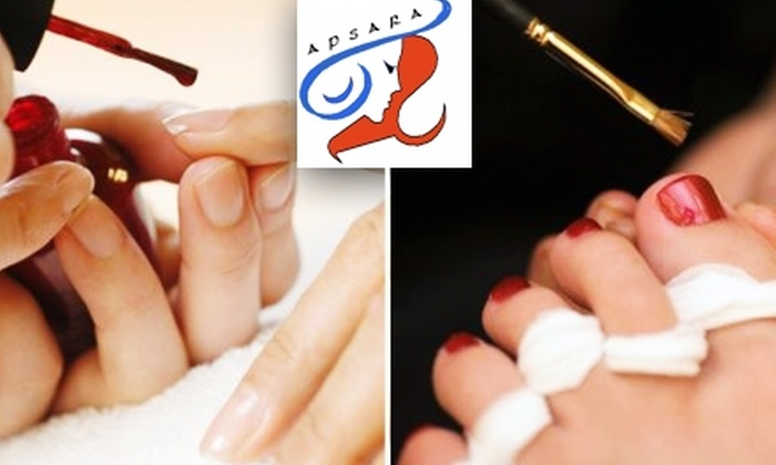 Apsara - Great Uptown: $35 for Deluxe Manicure and Pedicure at Apsara ($100 Value)