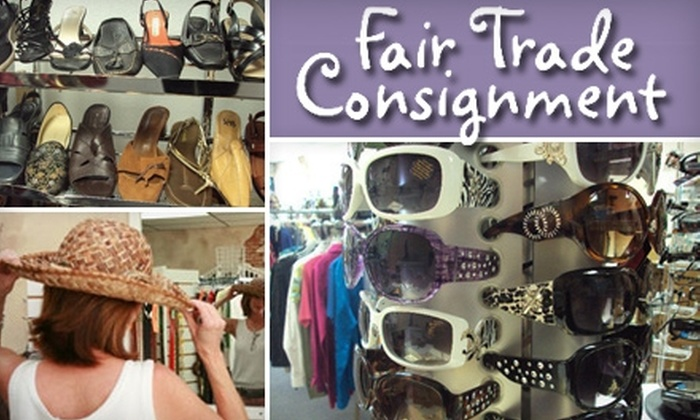 Fair Trade Consignment - Columbia Square: $10 for $25 Worth of Designer Resale Clothing and a Free Pair of Earrings at Fair Trade Consignment in Peoria