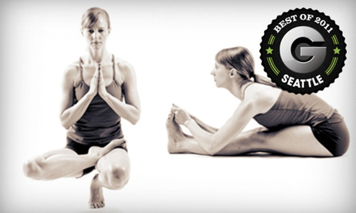 Bikram Yoga Seattle - Multiple Locations: One-Month of Unlimited Hot Yoga or 10 Drop-In Classes at Bikram Yoga Seattle (Up to 79% Off)
