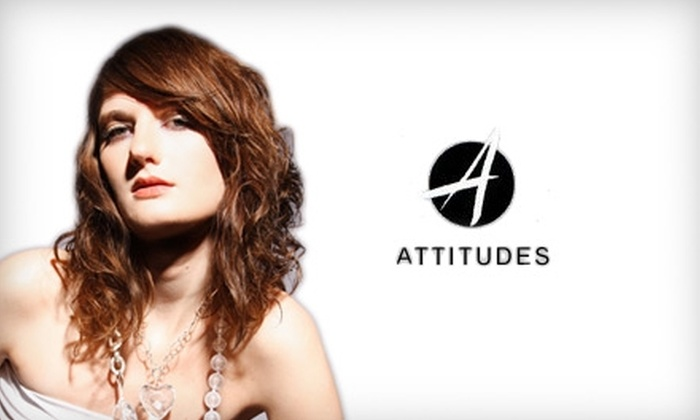 Attitudes A Salon - Multiple Locations: $36 Cut, Style, and Partial Highlights, Low Lights, or a Conditioning Treatment at Attitudes A Salon